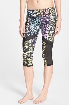 ONZIE Mesh Inset Capri Pants available at #Nordstrom