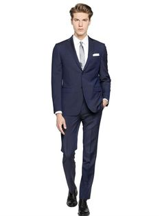 Wool & Mohair Blend Fil-A-Fil Suit
