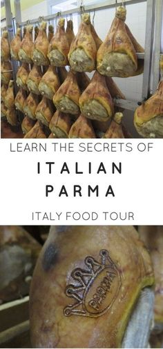 Must do Parma food tour in Italy. Learning how Parma is not the same as ham is quite the experience.