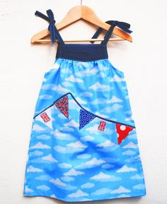 Girls Jubilee Bunting party dress £28.00