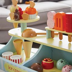 Kids' Toys   Children's Wooden Toys   Great Little Trading Co. Ice Cream Shop Toy, Ice Cream Scoop, All Toys, Kids Toys, Great Little Trading, Kids Playroom Furniture, Play Shop, Diy Art Projects, Painting On Wood
