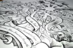 Beautiful Angel Tattoo Design from Dark Design Graphics