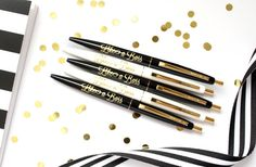 Set of 5 pens Like A Boss pens Black Ink by TaylorElliottDesigns