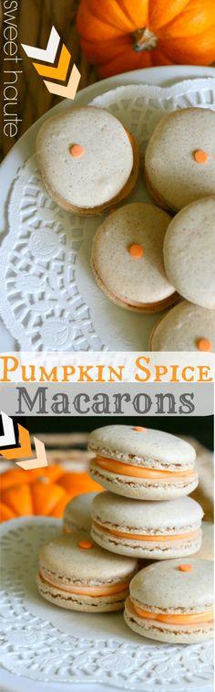 Pumpkins Spice Latte Macarons Tutorial Recipe- SWEET HAUTE