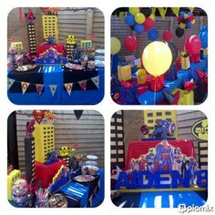 Superhero Kids Themed Party & Candy Buffet by Voila Functions www.facebook.com/voilafunctions