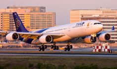 Thai Airlines Airbus A340 by Code20Photog, via Flickr