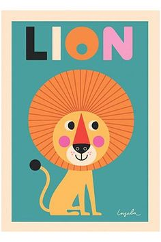 Retro lion print by Ingela P Arrhenius for Omm Design. 50 x 70 cm, kids room decoration, one of our best selling prints or posters for kids Kids Prints, Wall Prints, Poster Prints, Posters, Poster Poster, Nursery Prints, Baby Born, Home Accessories Stores, Tiger Poster