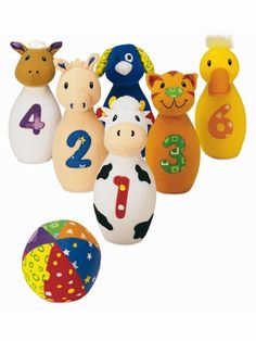 Baby Farm Friends Bowling Set