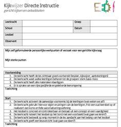Kijkwijzer directe instructie Teaching, How To Plan, Model, School, Scale Model, Learning, Models, Mockup