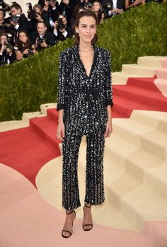 "Alexa Chung in Thakoon   ""Manus x Machina: Fashion In An Age Of Technology"" Costume Institute Gala at Metropolitan Museum of Art"