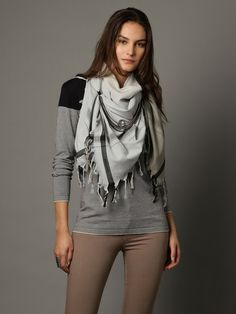 ACCENT CHAIN scarf by Leigh & Luca at Gilt