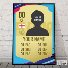 Football Wall, Custom Football, Personalized Football, Fifa Card, Squad, Sensory Boxes, Frame It, Champions League, Badge