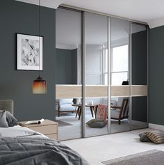 32 Minimalist Bedroom Color Inspiration, With home painting ideas, you are going to be educated on how best to decide on the paint color that will be appropriate for your style and requiremen. Sliding Mirror Wardrobe Doors, Wooden Sliding Doors, Closet Doors, Small Dressing Rooms, Wardrobe Door Designs, Taupe Walls, Discount Bedroom Furniture, Luxury Bedroom Design, Bedroom Colors