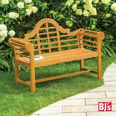 Pin some of your favorite entertaining essentials from BJ's Summer Party Inspiration board for a chance to win! Monterey Teak Lutyen's Bench