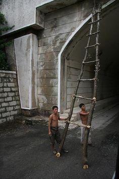 Road Repair in North Korea, north korea photo, north korea travel