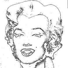 Queen Elizabeth By Andy Warhol CoLoring Art Pinterest Warhol