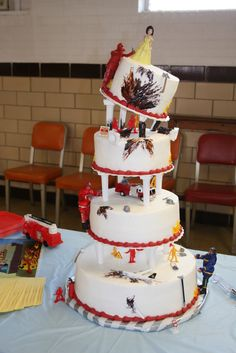 Firefighter Themed Wedding Cakes