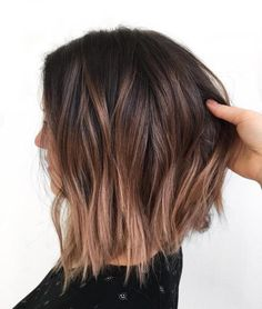 Lob with Beige Balayage Ombre