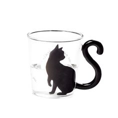 Cat Tail Handle Mug Coffee Tea Fruit Juice Cup   3pcs/Pack