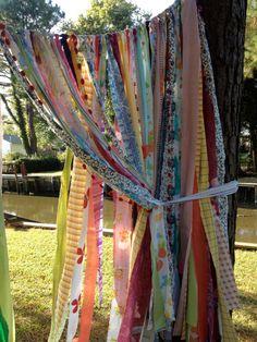 Gypsy Curtain Boho Hippie Bold Rod Pocket Rag by ohMYcharley