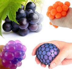New Cute Anti Stress Face Reliever Grape Ball Autism Mood Squeeze Relief Healthy…