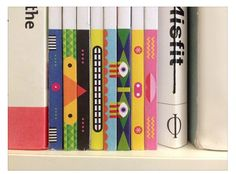 books collection spine illustration tribal series cover design