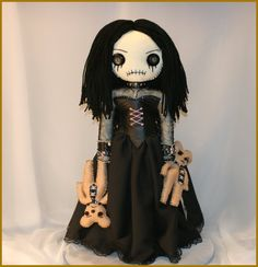 OOAK Hand Stitched Rag Doll Creepy Gothic Folk Art by TatteredRags, $150.00