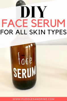 DIY Face Serum With Essential Oils - This homemade DIY face serum is perfect for all skin types. It will help fight wrinkles and promote skin softening and anti aging properties while also preventing acne! Best Anti Aging, Anti Aging Skin Care, How To Grow Eyebrows, Clean Face, Combination Skin, Oily Skin, Skin Care Tips, Essential Oils, Beauty Tips