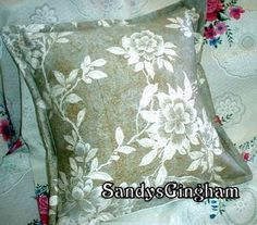 DECORATIVE PILLOW SHAMS Gilded Odeon Gray 2 16 x 16  by Sew1Pretty