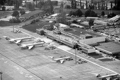 1990 Flughafen Berlin-Schoenefeld mit Interflug Maschinenen