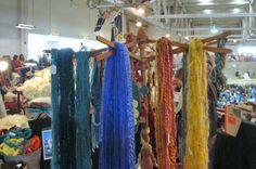 Use your Strauch swift to display yarn! Photo courtesy of Cindy Alexander, Southern Charm Alpacas in Lyman, SC.