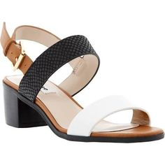 Dune Finchy Leather Block Heeled Sandals