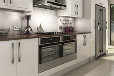 A Livorna White High Gloss Kitchen Design Idea http://www.diy-kitchens.com/kitchens/livorna-white/details/