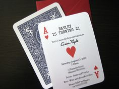 Party Invitations..Just Change It From A Casino Party Invite.