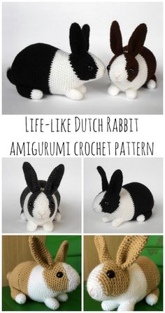 Crochet Bunny Amigurumi Pattern Dutch Rabbit