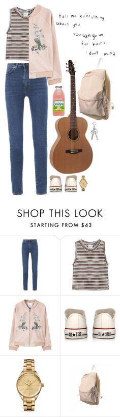 """Sin título #604"" by mary-nava ❤ liked on Polyvore featuring Yves Saint Laurent, Edith A. Miller, MANGO, Converse and Lacoste"