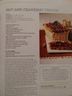 Nut and cranberry terrine