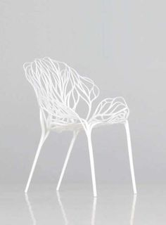 Vegetal: by Ronan and Erwan Bouroullec / chair / white - They do so many things I love.