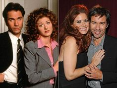 DEBRA & ERIC They were co-dependent besties on their long-running hit Will & Grace, and Messing and McCormack obviously still lean on each other, as they did on Oct. 7, 2013, at an Academy of Television Arts & Sciences event honoring James Burrows in North Hollywood.