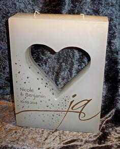 hochzeitskerzen Laser Cut Box, Candels, Birthday Candles, Wedding Ideas, Weddings, Candles, Craft, Bodas, Hochzeit