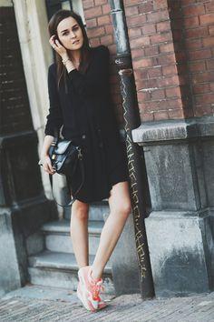 Dress: ZARA  |  Sneakers: Nike Air Max  |   Bag: Proenza Schouler aug