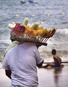 Fruit on a Stick in Acapulco, Mexico