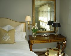 Traditional style Guest Bedroom with accents of gold