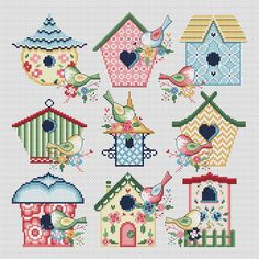 free plan bird house tattoo look at : While it may look that each one cats look precisely the same, there are some more unusual breeds. Cats can be found in a great number of breeds, howev. Cross Stitch House, Cross Stitch Heart, Simple Cross Stitch, Cross Stitch Samplers, Modern Cross Stitch, Cross Stitch Designs, Cross Stitching, Cross Stitch Embroidery, Embroidery Patterns