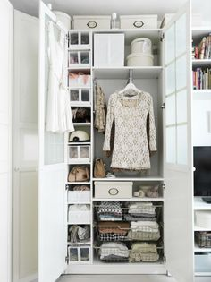 Try organizing your closet by setting it up in zones according to how you think about your clothing. When getting dressed, do you think first in terms of occasion, by clothing type, or by season? Create a closet section for each category and you'll always be ready to go!