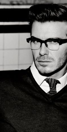David Beckham.....he even looks perfect in glasses!!!!