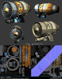 Various game assets by Bruno Fontan, via Behance