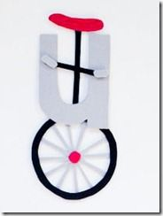Letter u unicycle craft