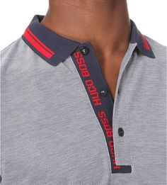 "HUGO BOSS - Branded cotton-jersey polo shirt | <a href=""http://Selfridges.com"" rel=""nofollow"" target=""_blank"">Selfridges.com</a>"