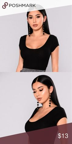Dont take my advice  crop top >Black crop top >bought from fashion nova >worn once >Scoop Neckline >Cropped Ribbed >60% Cotton, 35% Rayon, 5% Spandex Fashion Nova Tops Crop Tops